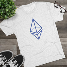 Load image into Gallery viewer, The wired Octahedron Tri-Blend Crew Tee