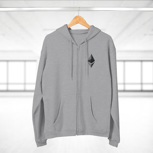 Eth Octahedron Hooded Zip Sweatshirt