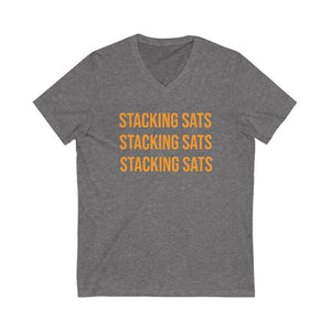 Stacking Sats Short Sleeve V-Neck Tee