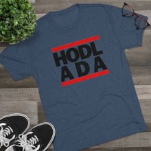 Load image into Gallery viewer, HODL ADA Tri-Blend Crew Tee