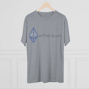 The Wired Octahedron ETH Logo Tri-Blend Crew Tee