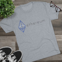 Load image into Gallery viewer, The Wired Octahedron ETH Logo Tri-Blend Crew Tee