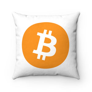 Bitcoin Faux Suede Square Pillow