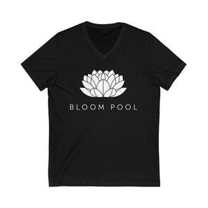 The Bloom Pool Jersey Short Sleeve V-Neck Tee