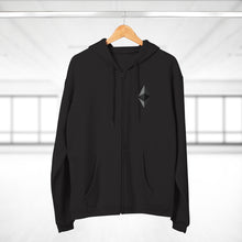 Load image into Gallery viewer, Eth Octahedron Hooded Zip Sweatshirt