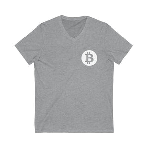"""Bitcoin Badge"" V-Neck Tee"