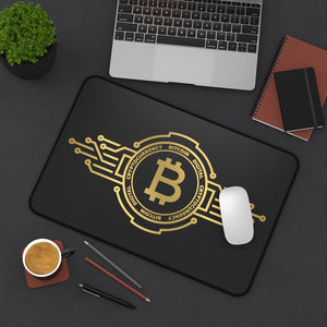 Golden BTC Desk Mat