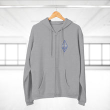Load image into Gallery viewer, Wired Octahedron Hooded Zip Sweatshirt