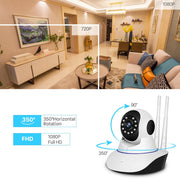 360 Degrees 1080P Dual Antenna Wireless IP Smart Camera