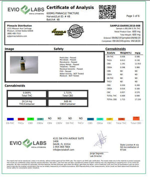 Load image into Gallery viewer, Pinnacle Hemp Full Spectrum Oil 600mg CBD 30ml