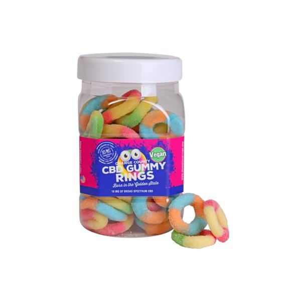 Orange County CBD 10mg Gummy Rings - 50 gummies