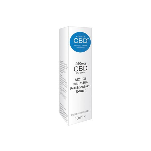 Load image into Gallery viewer, Clearly CBD 250mg CBD Tincture Oil 10ml