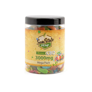 Load image into Gallery viewer, Sun State Hemp 3000mg CBD Mega Pack Gummies