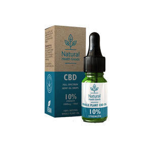 Load image into Gallery viewer, Natural Health Goods Full Spectrum 1000mg CBD Oil 10ml