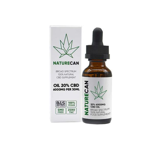 Naturecan 20% 6000mg CBD Broad Spectrum MCT Oil 30ml