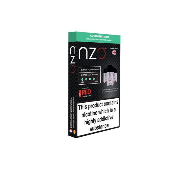 Load image into Gallery viewer, NZO 20mg Salt Cartridges with Red Liquids Nic Salt (50VG/50PG)