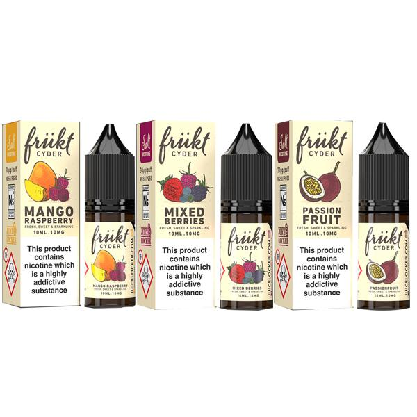 Load image into Gallery viewer, 20mg Frukt Cyder 10ml Flavoured Nic Salts (50VG/50PG)