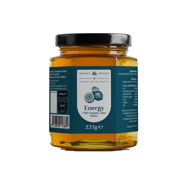 Load image into Gallery viewer, Moods and Bears 500mg CBD Natural Pure Honey 227g