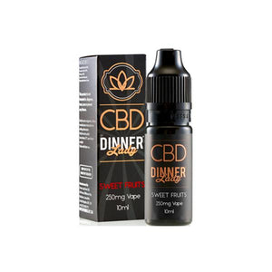 Load image into Gallery viewer, Dinner Lady 500mg CBD 10ml E-Liquid (70VG/30PG)
