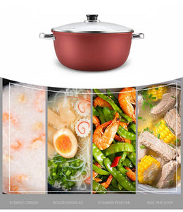 Soup pot  Non-stick pan stainless steel pot Kitchenware kitchen cooking pot Cookware Smokeless health Nonmagnetic Cooking