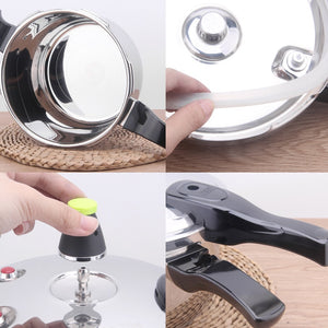 Stainless Steel Pressure Cooker Pressure Limiting Valve Cookware General Use for Gas and Induction Cooker 18/20/22/24 / 28cm
