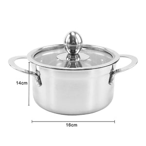 Hot Stainless Steel Thickened Soup Pot Milk Pot Soup Pan Kitchen Boiler Soup Stock Cooking Iduction Gas Pots Boiler Cookware Pot
