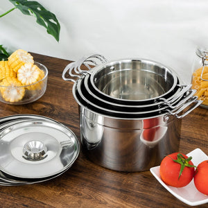 Soup Pot Stainless Steel Pot Stew Pot Soup Home Induction Cooker Pot with Lid Lard Tank Spice Tank Pot Miso Instant Pot Kitchen