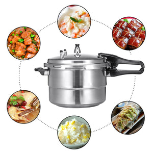 Aluminium Alloy Kitchen Pressure Cooker Gas Stove Cooking Energy-saving Safety Protection For Induction Cooker Gas Furnace 7L