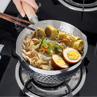 Stainless Steel Saucepan Sauce Pan with Lid and Handle Food Supplement Soup Pot Cookware can CSV