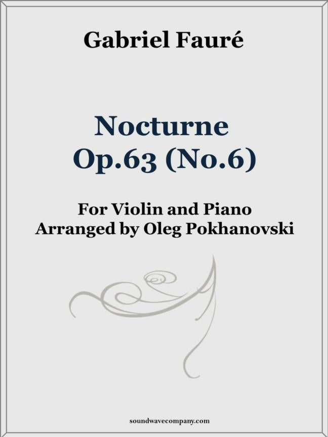 Nocturne, Op.63 (No.6) for Violin and Piano