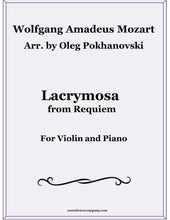 Load image into Gallery viewer, Lacrymosa from Requiem for Violin and Piano
