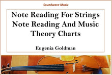 Load image into Gallery viewer, Note Reading For Strings: Note Reading, Rhythmic Values and Music Theory Charts