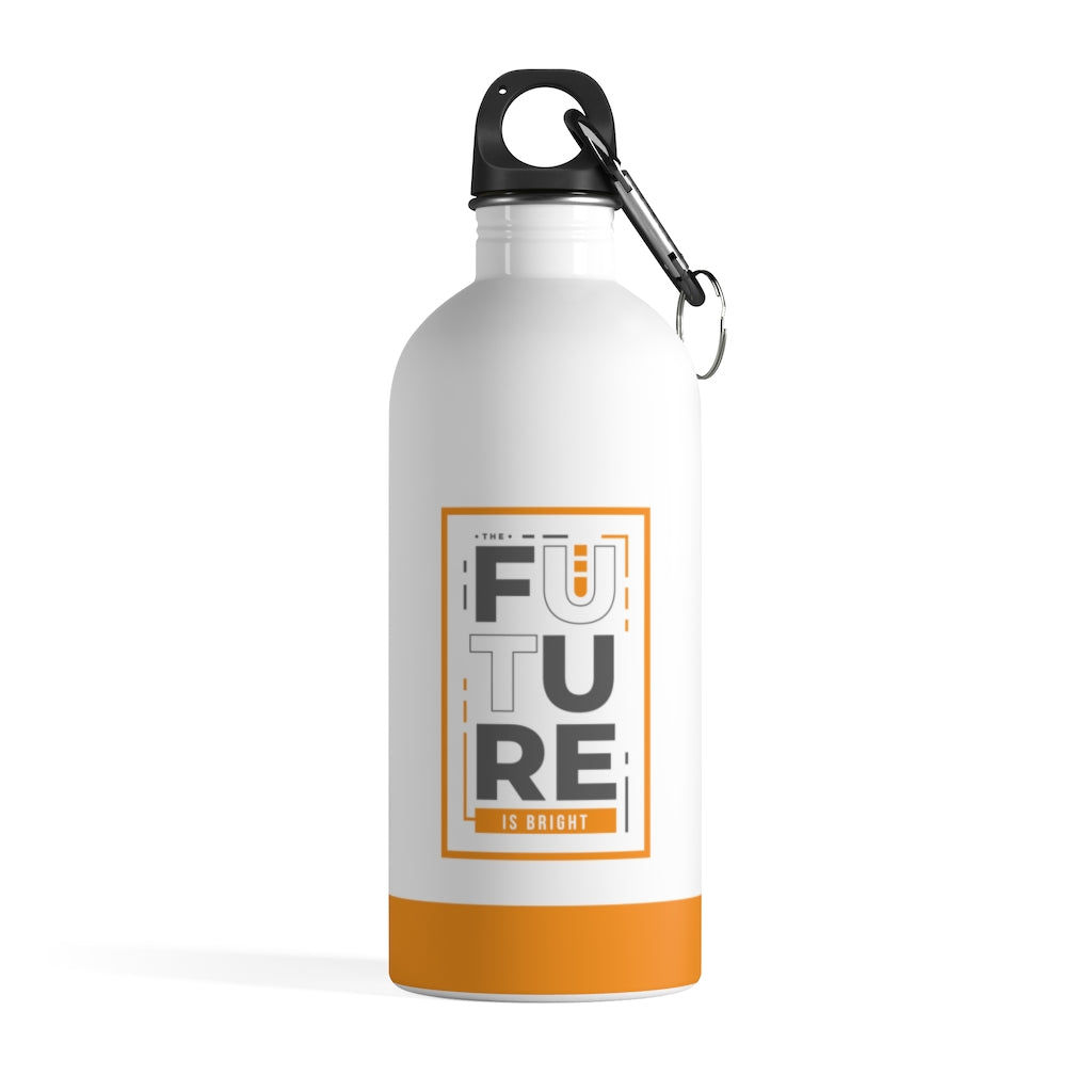 The Future Is Bright - Stainless Steel Water Bottle