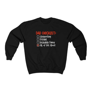 Unisex Sweatshirt - Dad Checklist