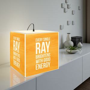 Every Single Ray Brightens With Good Energy - Personalized Lamp