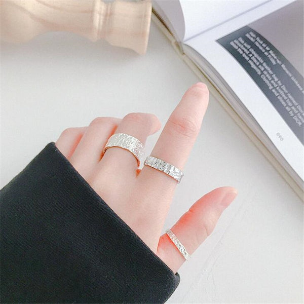 New Fashion Creative Tree Pattern Rugged 925 Sterling Silver Jewelry Personality Geometric Branch Exquisite Opening Rings SR453