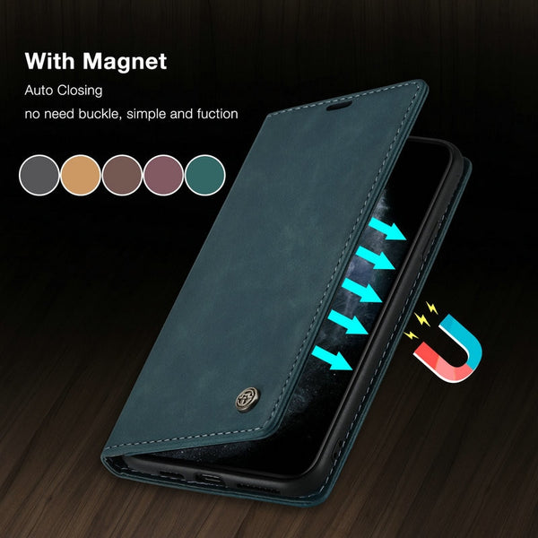 Original Flip Case For iPhone 11 Pro Retro Magnetic Credit Card Stand Wallet For iPhone 11 Pro Max 6 7 8 Plus SE2020 Case