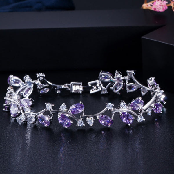 Pera Natural Royal Color Women Jewelry 925 Sterling Silver Dark Blue CZ Crystal