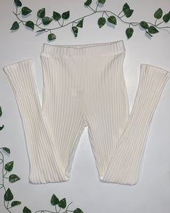 3 Piece White Loungewear Set