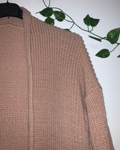 Load image into Gallery viewer, Longline Chunky Knit Cardigan