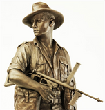 WW2 AUSTRALIAN COMMANDO PACIFIC STATUE