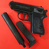 DENIX REPLICA GERMAN WALTHER PPK PISTOL & SILENCER