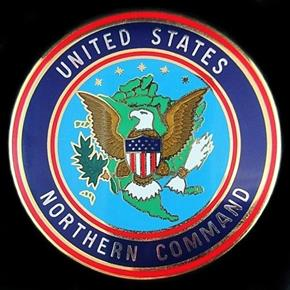 U.S. NORTHERN COMMAND SERVICE ID POCKET BADGE