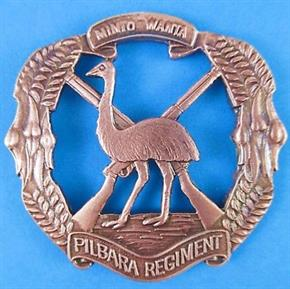 AUSTRALIAN ARMY PILBARA REGIMENT HAT BADGE