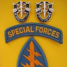 U.S. SPECIAL FORCES SHOULDER PATCH & CREST BADGES