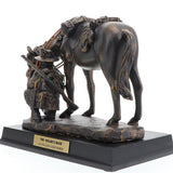 WW1 AUSTRALIAN ARMY LIGHT HORSE WALERS MATE STATUE