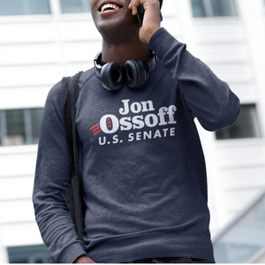 Ossoff for Senate Navy Logo Sweatshirt
