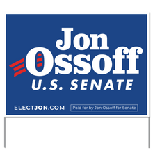 Load image into Gallery viewer, Ossoff for Senate Yard Sign
