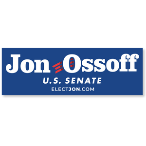 Ossoff for Senate Bumper Sticker
