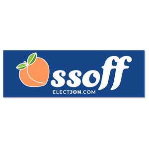 Ossoff for Senate Bumper Sticker (Peach)